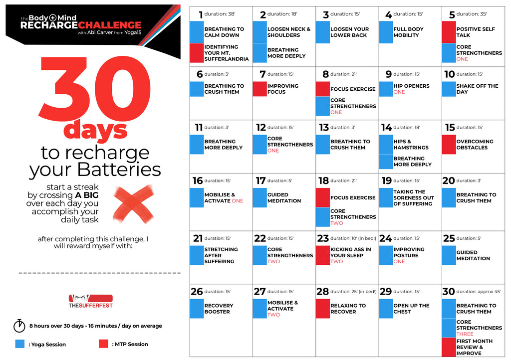 Join the 30-Day Body+Mind Recharge Challenge  Starts
