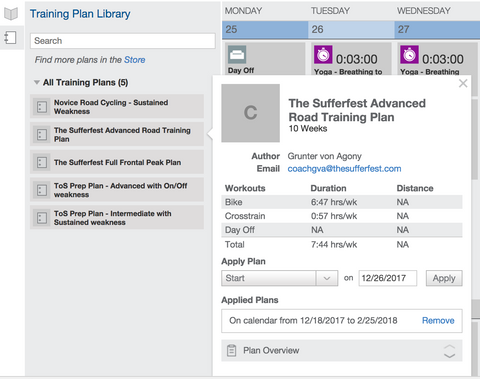 The Sufferfest Training Plans Now Available on TrainingPeaks
