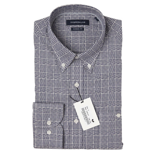 LONG SLEEVE GREY CHECKED SHIRT