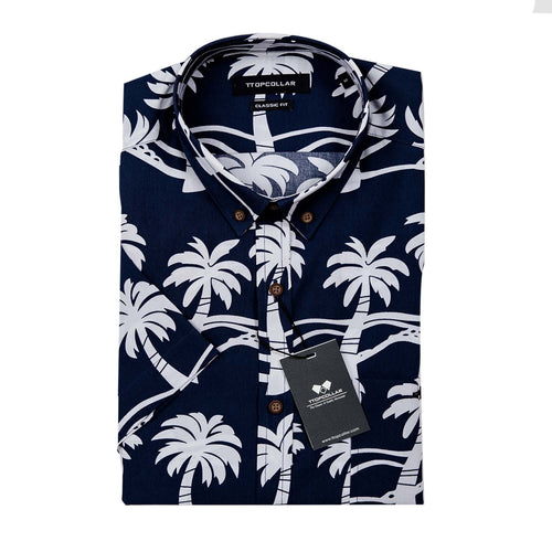 SHORT SLEEVE BEACH PRINTED SHIRT