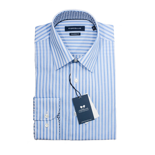 LONG SLEEVE PENCIL BLUE STRIPE SHIRT