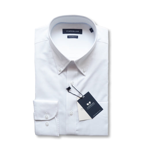 LONG SLEEVE WHITE ROYAL OXFORD SHIRT