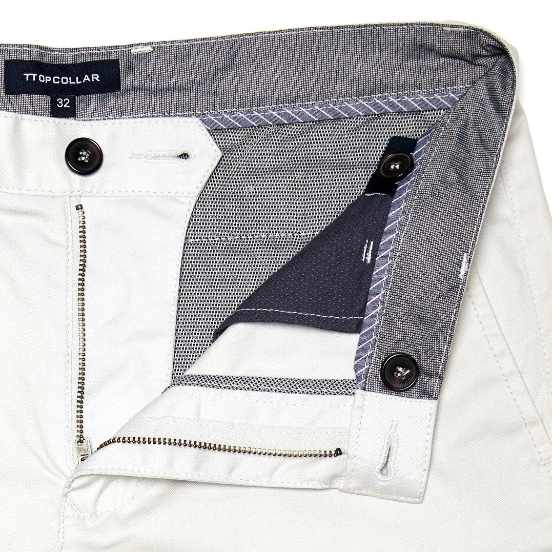 LIGHT GREY SLIM FIT CHINO
