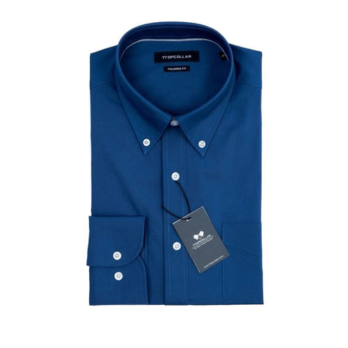 LONG SLEEVE NEW BLUE BUTTON DOWN SHIRT