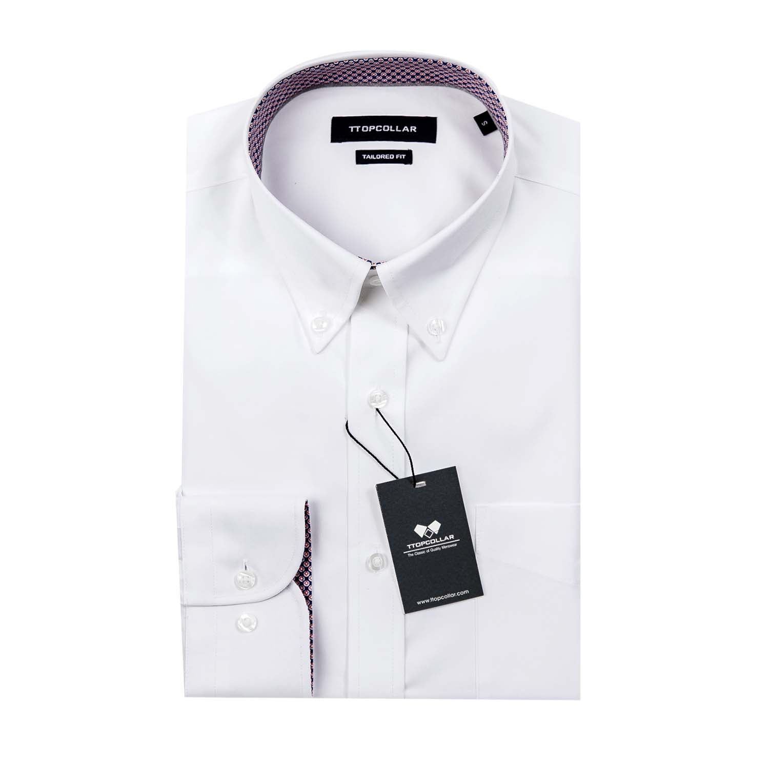 LONG SLEEVE WHITE PREMIUM TWILL SHIRT