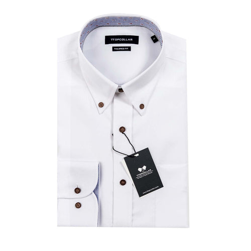 LONG SLEEVE WHITE PREMIUM OXFORD SHIRT