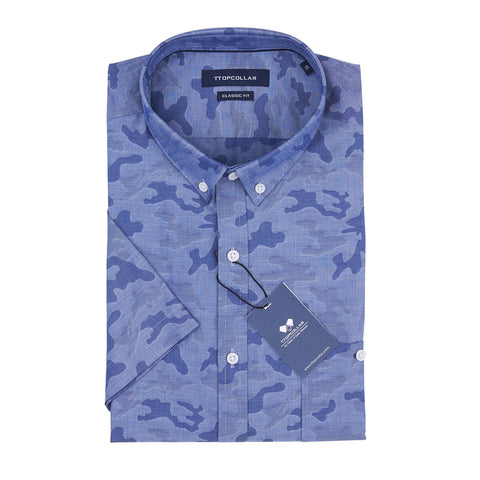 SHORT SLEEVE SNOWFLAKE SHIRT