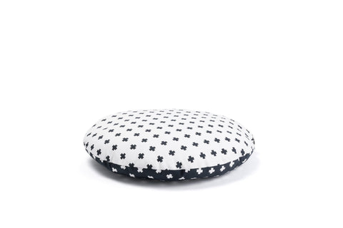 The Criss Cross cotton cushion - organic luxury