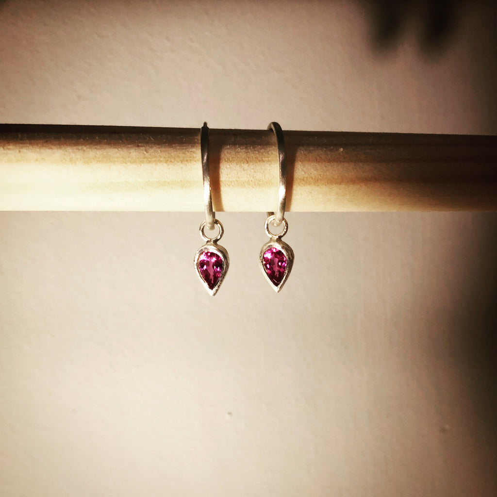 Pink Sapphire pirate earrings