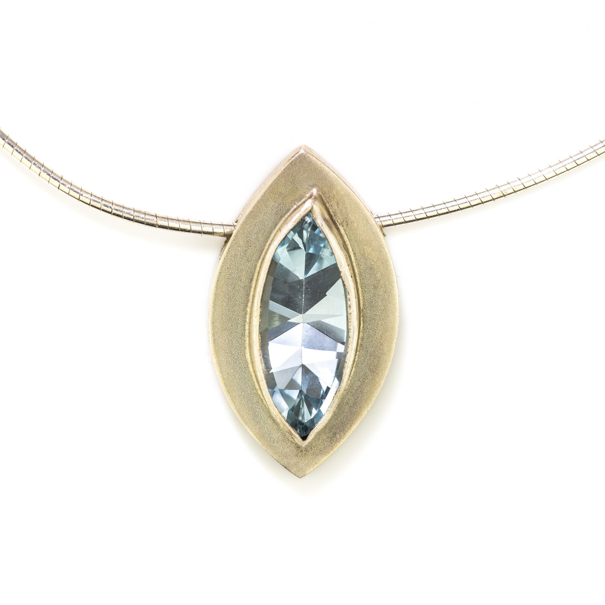 asprey created necklace marquise the double in topaz daisy workshops cut pendant blue has pin