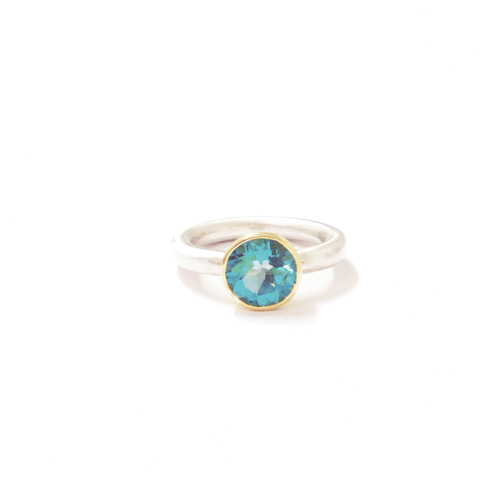 Swizz Blue Topaz Ring