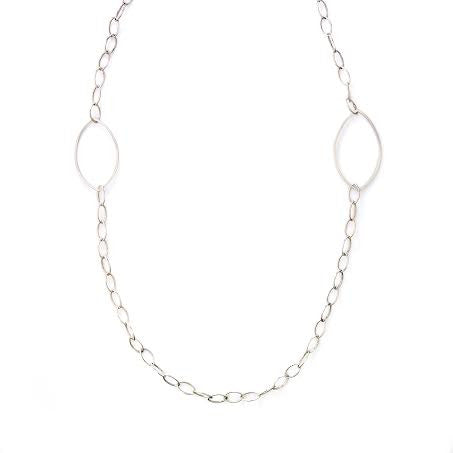 Marquise & Silver Necklace