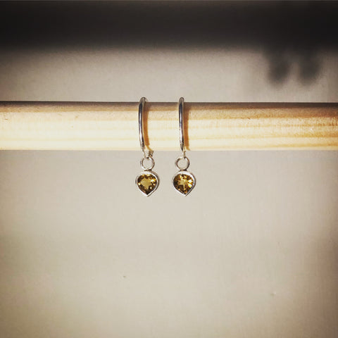 Citrine pirate earrings