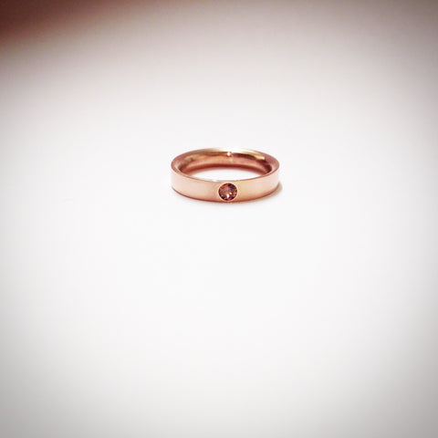 Rose gold and malia garnet ring