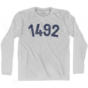 1492 Year Celebration Adult Cotton Long Sleeve T-shirt - Year Celebration