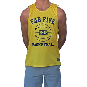 Michigan Fab Five Basketball Practice Singlet Jersey