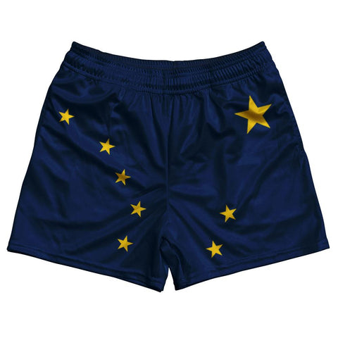 Alaska State Flag Rugby Shorts Made In USA by Ruckus