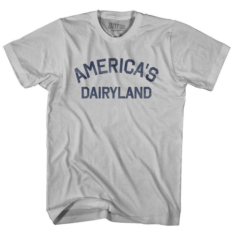 Wisconsin America's Dairyland Nickname Adult Cotton T-shirt by Ultras