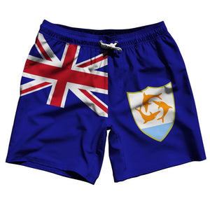 "Anguilla Country Flag 7.5"" Swim Shorts by Ultras"