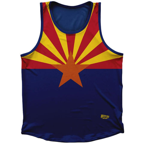 Arizona State Flag Athletic Sport Tank Top Made In USA by Ultras