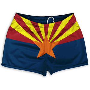 "Arizona State Flag Shorty Short Gym Shorts 2.5"" Inseam by Ultras"