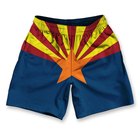 "Arizona State Flag Athletic Running Fitness Exercise Shorts 7"" Inseam by Ultras Sportswear"
