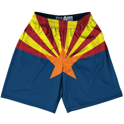 "Arizona State Flag 9"" Inseam Lacrosse Shorts by Tribe Lacrosse"