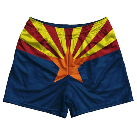 Arizona State Flag Rugby Shorts Made In USA by Ruckus