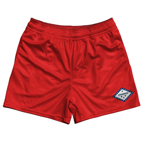 Arkansas State Flag Rugby Shorts Made In USA by Ruckus