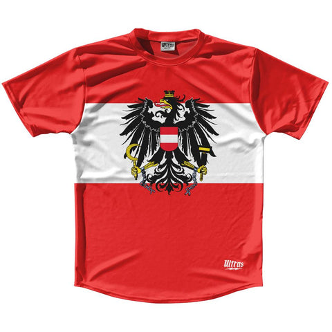 Austria Country Flag Running Shirt Track Cross Country Performance Top Made In USA by Ultras