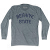 Utah Beehive State Nickname Adult Tri-Blend Long Sleeve T-shirt by Ultras