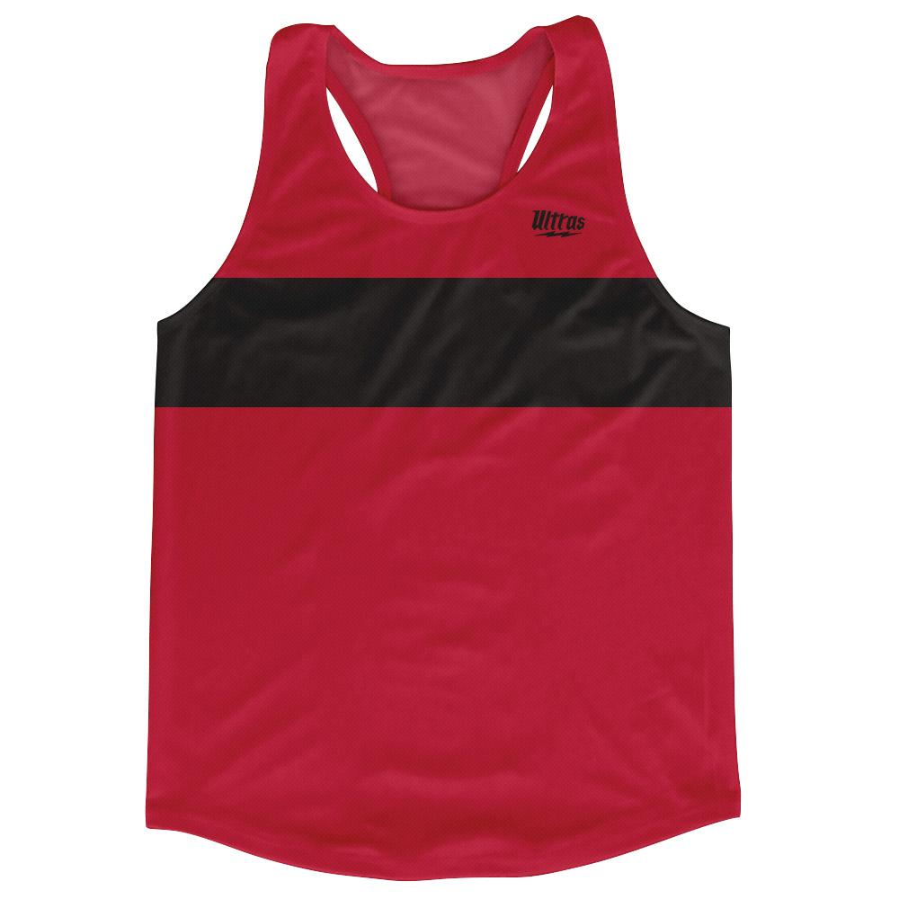 Ultras Black and Dark Red Blank Finish Line Running Tank Top Racerback Track and Cross Country Singlet Jersey