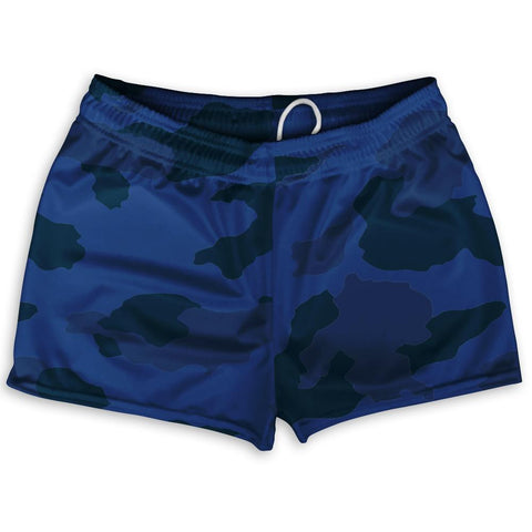 "Navy Camo Shorty Short Gym Shorts 2.5""Inseam By Ultras Sportswear"