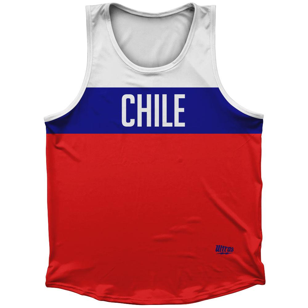 Chile Country Finish Line Athletic Sport Tank Top Made In USA
