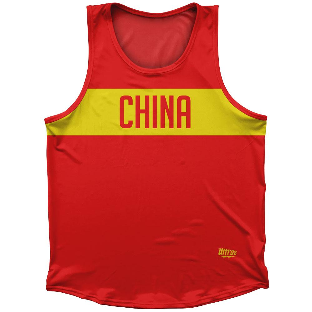 China Country Finish Line Athletic Sport Tank Top Made In USA