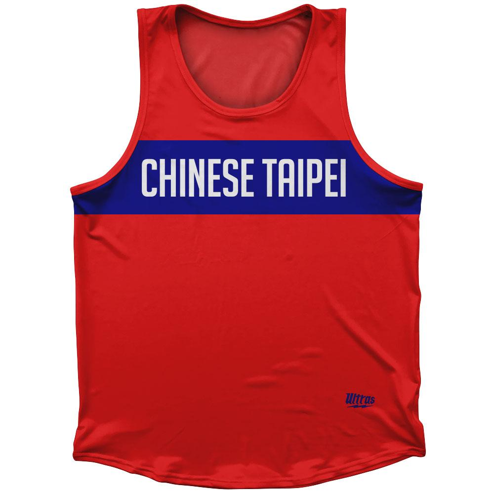 Chinese Taipei Country Finish Line Athletic Sport Tank Top Made In USA