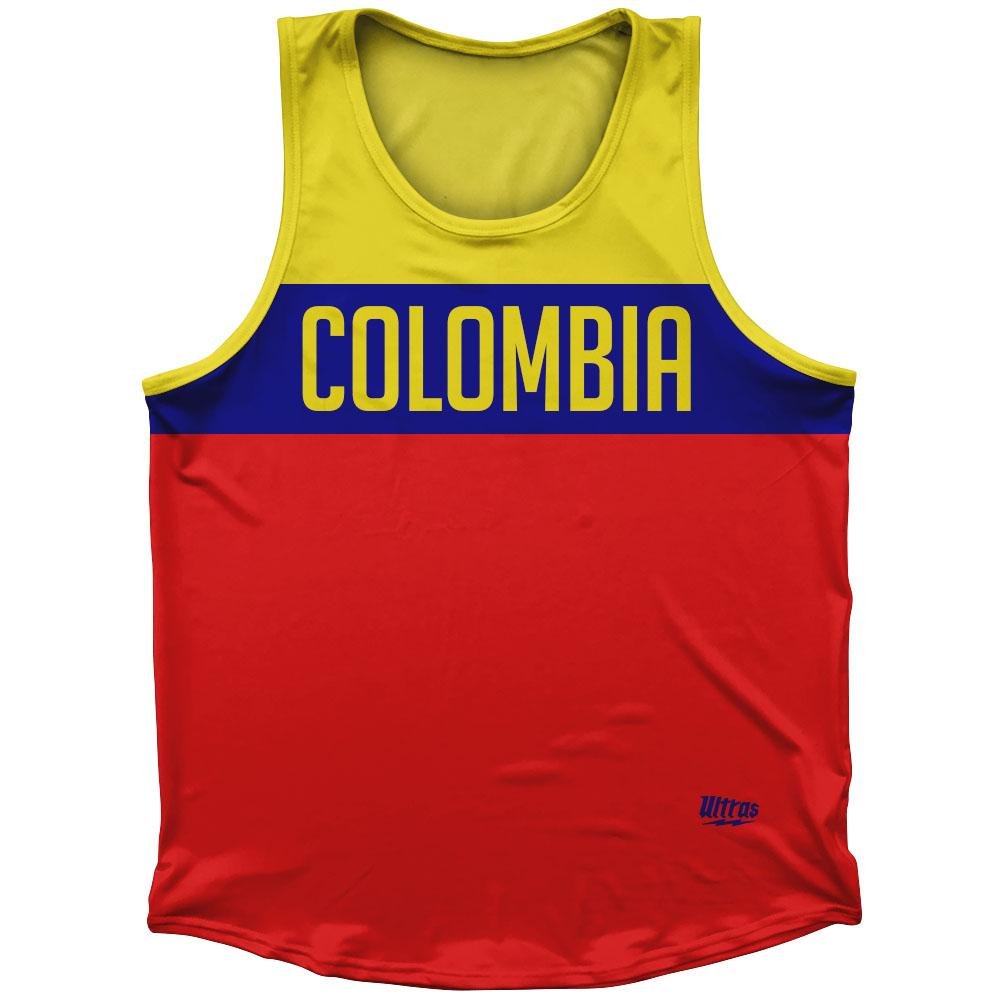 Colombia Country Finish Line Athletic Sport Tank Top Made In USA
