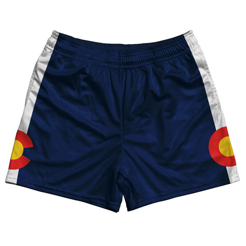 Colorado State Flag Rugby Shorts Made In USA by Ruckus