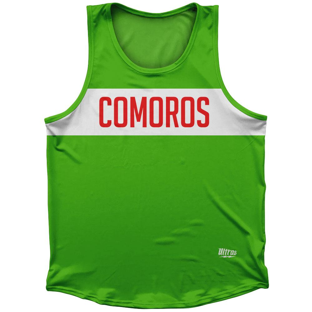 Comoros Country Finish Line Athletic Sport Tank Top Made In USA