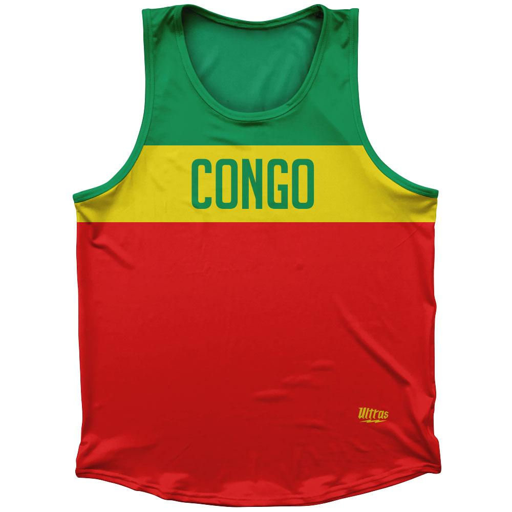 Congo Country Finish Line Athletic Sport Tank Top Made In USA