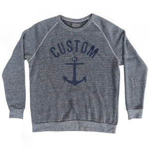 Custom Anchor Crewneck Adult Tri-Blend Sweatshirt