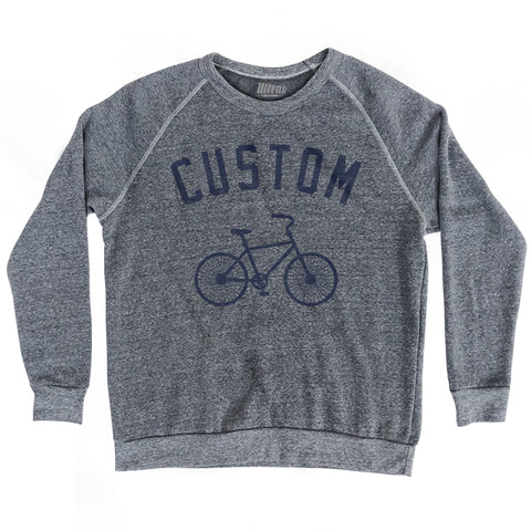 Custom Bike Crewneck Adult Tri-Blend Sweatshirt