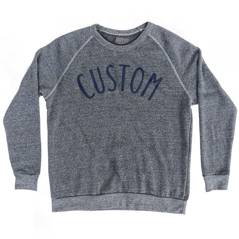 Custom Sand Crewneck Adult Tri-Blend Sweatshirt