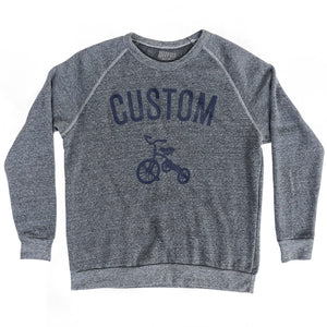 Custom Tricycle Home Crewneck Adult Tri-Blend Sweatshirt