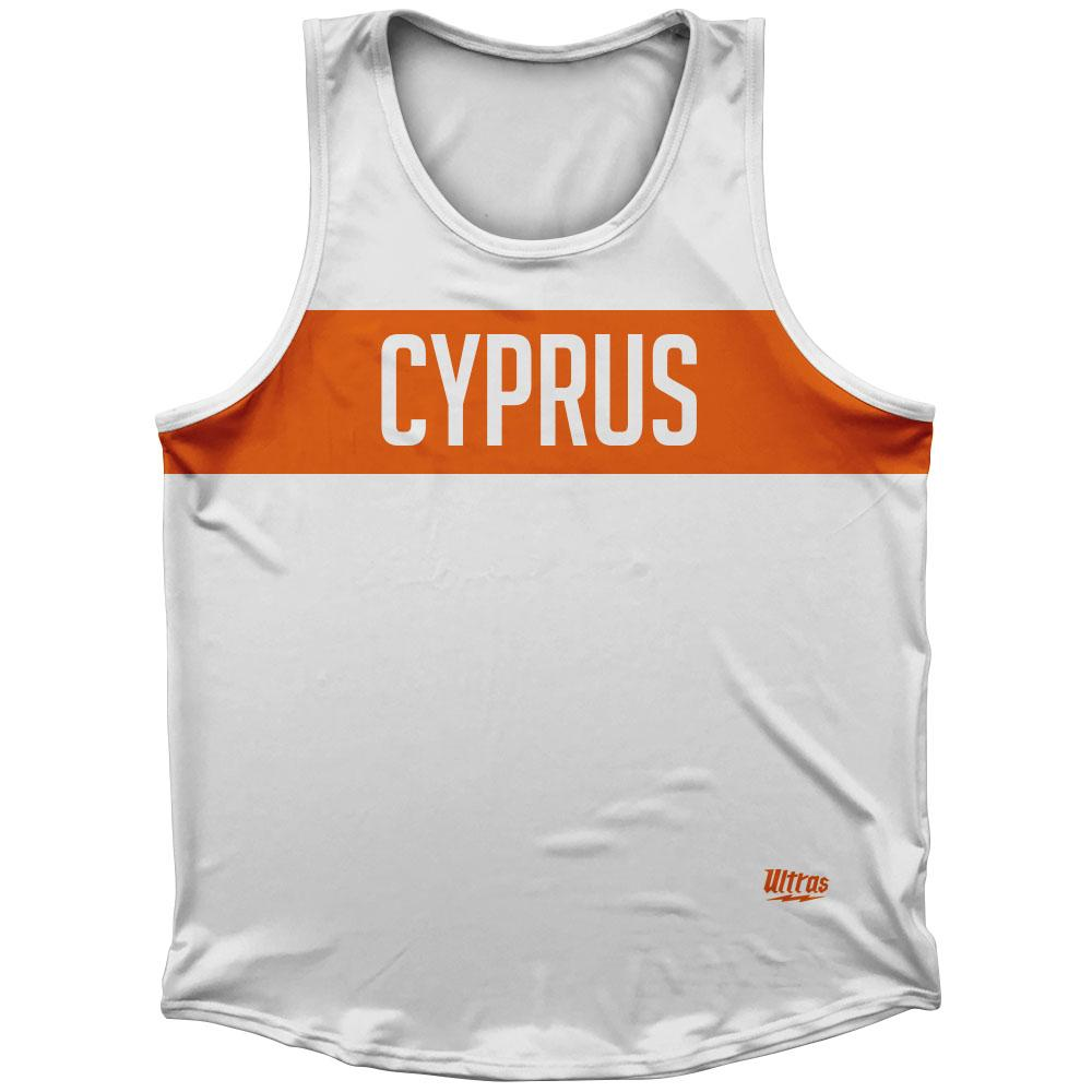 Cyprus Country Finish Line Athletic Sport Tank Top Made In USA