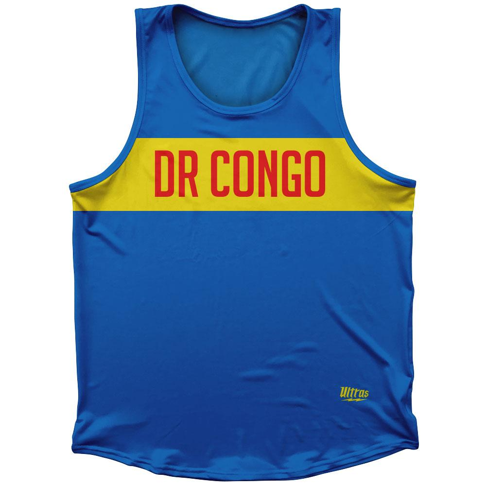 DR Congo Country Finish Line Athletic Sport Tank Top Made In USA