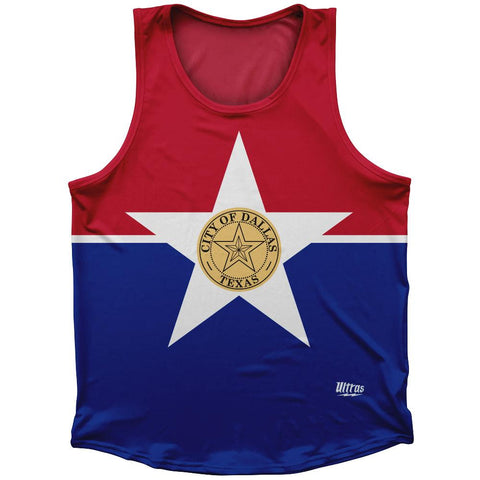 Dallas Flag Athletic Sport Tank Top Made In USA by Ultras
