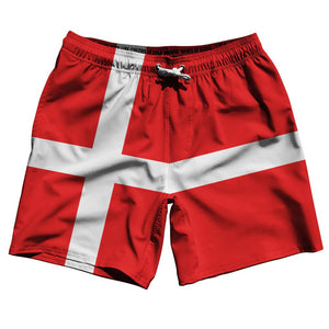 "Denmark Country Flag 7.5"" Swim Shorts by Ultras"