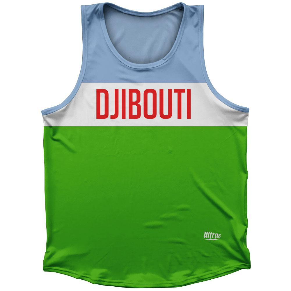 Djibouti Country Finish Line Athletic Sport Tank Top Made In USA