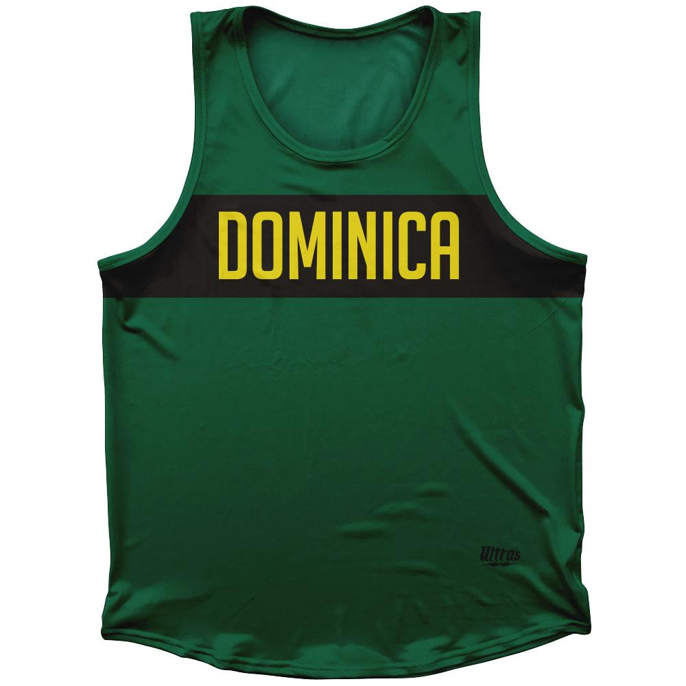 Dominica Country Finish Line Athletic Sport Tank Top Made In USA